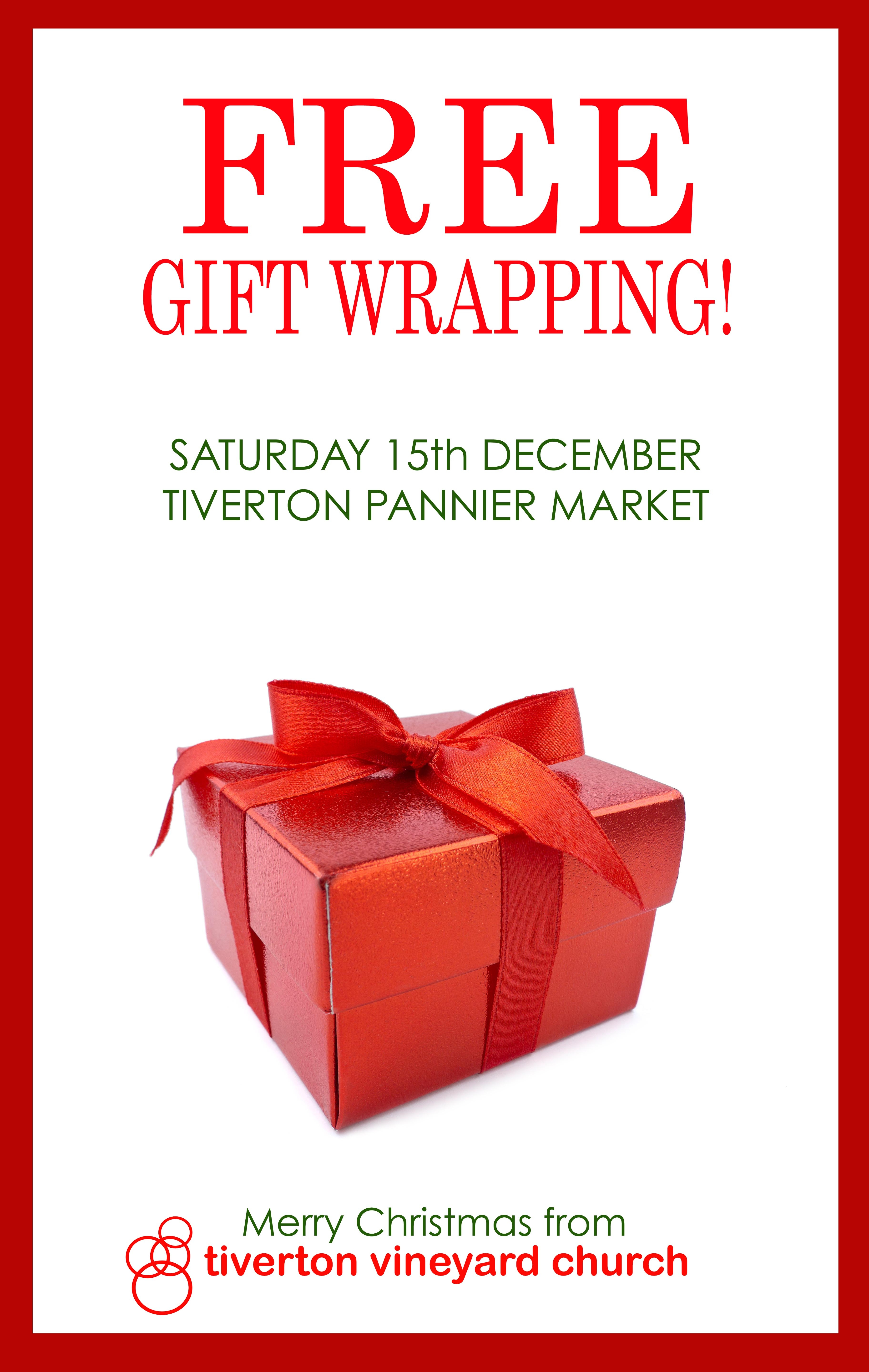 Free gift wrapping tiverton vineyard church on saturday the 15th of december some of the friendly faces from tiverton vineyard church will be offering a free christmas present wrapping service in the negle Gallery